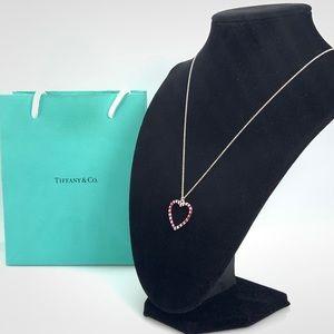 Tiffany & Co. Venezia Palina Heart Pendant Necklac